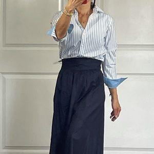 Equipment Blue Stripe Button Down Shirt size XS
